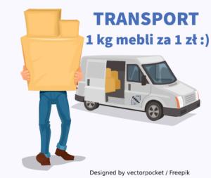 Transport mebli z IKEA 1 zł za 1 kg